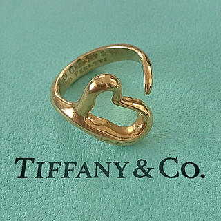 Tiffany & Co. - ティファニー オープンハート リング K18 750 ゴールド 指輪