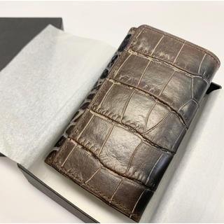【お値下げ】牛革製キーケース 未使用新古品 日本製 ダークブラウン(キーケース)