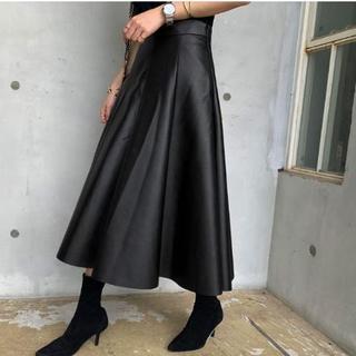 レザースカート レディース 黒 ロングスカート 秋 ファッション