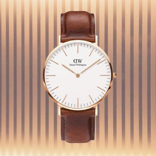 Daniel Wellington -  保証付き【40㎜】ダニエルウェリント 腕時計〈DW00100006〉0106