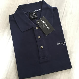 DUNLOP - 【新品】タグ付き ダンロップ半袖ポロシャツMサイズ 紺色