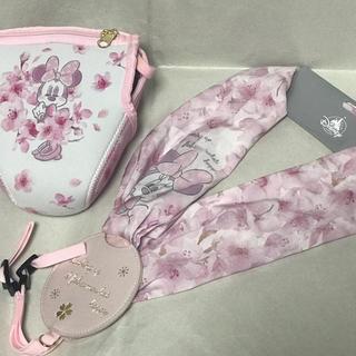 Disney - ディズニーストア ミニー カメラケースとストラップ 桜