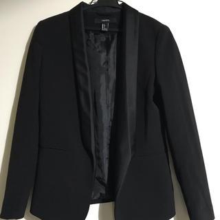 フォーエバートゥエンティーワン(FOREVER 21)のフォーエバー21 ブラックジャケット フォーマル カジュアル(テーラードジャケット)