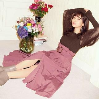 rienda - 新品 今期新作 riendaH/W変形タフタSK スカート