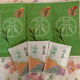 【そのぎ茶】特撰玉緑茶100g×3本 白折80g×3本 緑茶 日本茶 長崎県産 (茶)
