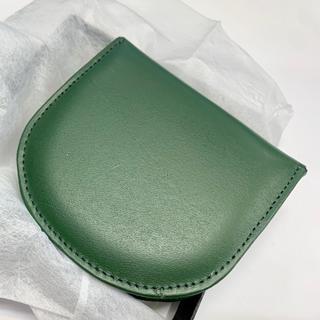 【お値下げ】牛革製コインケース 未使用新古品 日本製 グリーン(コインケース/小銭入れ)