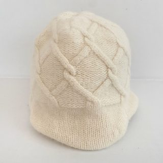 パタゴニア(patagonia)のパタゴニア ニット帽 アイボリー(ニット帽/ビーニー)