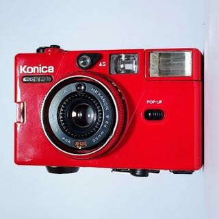 コニカミノルタ(KONICA MINOLTA)のコニカ C35 EF3 可愛い赤色(フィルムカメラ)