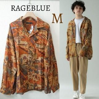 レイジブルー(RAGEBLUE)の今季 新品 レイジブルー アフリカ柄 オープンシャツ 開襟シャツ 長袖トップス(シャツ)