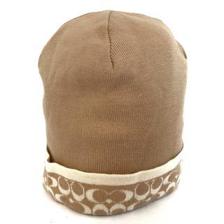 コーチ(COACH)のCOACH(コーチ) ニット帽美品  ウール(ニット帽/ビーニー)