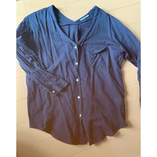ローズバッド(ROSE BUD)のローズバッド ネイビーシャツ(シャツ/ブラウス(長袖/七分))