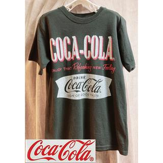 コカコーラ(コカ・コーラ)のコカコーラTシャツ.黒.メンズ.L(Tシャツ/カットソー(半袖/袖なし))