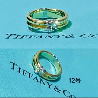 Tiffany & Co. - 極美品ティファニー K18YG/WG ダイヤモンド リング シグネチャー7.1g