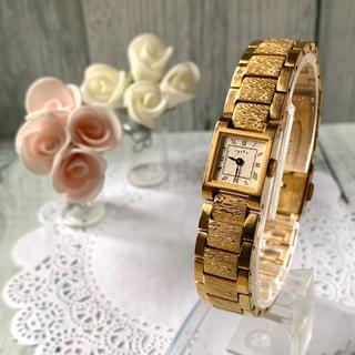 アガット(agete)の【美品】agete アガット 腕時計 ゴールド スクエア アンティーク調(腕時計)