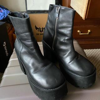 ユニフ(UNIF)のUNIF ビール ブーツ(ブーツ)