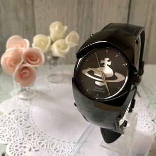 ヴィヴィアンウエストウッド(Vivienne Westwood)の【動作OK】ヴィヴィアン  腕時計  アーマー ブラック VW-23B7(腕時計(アナログ))