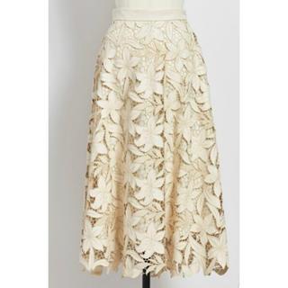 Noela - 新品タグ付 ノエラ レザーレーススカート オフホワイト