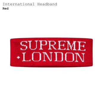 シュプリーム(Supreme)のsupreme international head band red(バンダナ/スカーフ)