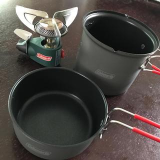 コールマン(Coleman)のColeman★ソロクッカー&アウトランダーマイクロストーブ(調理器具)