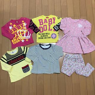 ベビードール(BABYDOLL)の女の子 トップス ワンピース ズボン 6着まとめ売り♡80cm♡(Tシャツ)