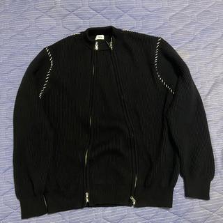 アレッジ(ALLEGE)のallege double zip knit ジップニット 19aw(ニット/セーター)