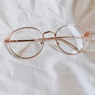 トムブラウン(THOM BROWNE)の□ボストン型□ 金縁メガネ ピンクゴールド×クリアクリップ 丸み逆三角形(サングラス/メガネ)