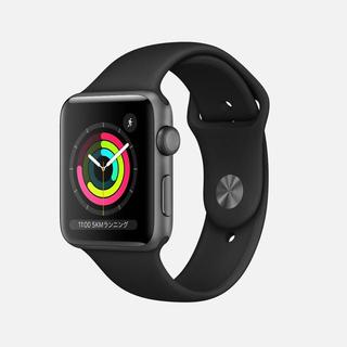 Apple Watch - Apple Watch 3  ディープネイビースポーツバンド レギュラー