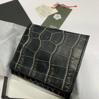 【お値下げ】牛革製コインケース 未使用新古品 日本製 ブラック(コインケース/小銭入れ)
