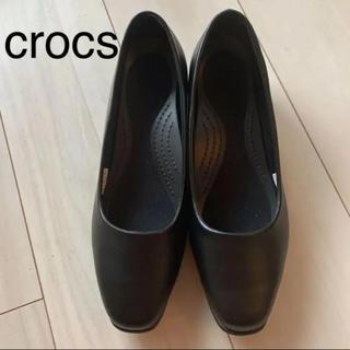 CROSS - crocs クロックス パンプス 8.5  黒 美品