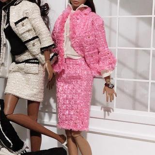 バービー(Barbie)のBarbie バービー ピンク三点セット poppyparker にも着せれます(ぬいぐるみ/人形)
