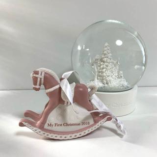 WEDGWOOD - ①ウェッジウッド 木馬 ピンク ポニー オーナメント クリスマス
