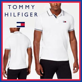 トミーヒルフィガー(TOMMY HILFIGER)の日本未入荷★TOMMY トミー フィルフィガー 半袖 ホワイト ポロシャツ(ポロシャツ)