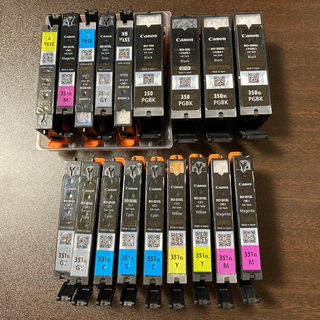キヤノン(Canon)のCANON純正インク(空) BCI-351/350 無印/XL(オフィス用品一般)