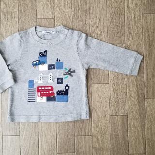 familiar - familiar 長袖 Tシャツ 80 記名