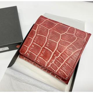 【お値下げ】牛革製コインケース 未使用新古品 日本製 レッド(コインケース/小銭入れ)