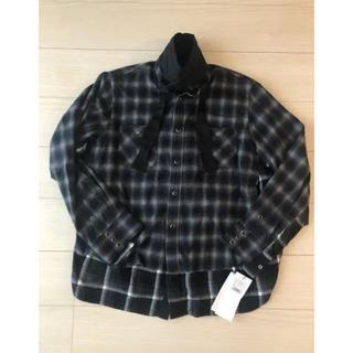 サカイ(sacai)のsacai レイヤードチェックシャツ(シャツ)