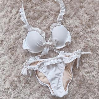 ZARA - 今週限定 white swimwear