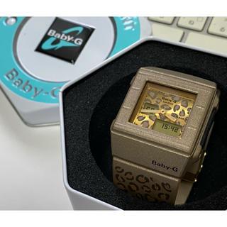 ベビージー(Baby-G)のbaby-G/BGA-200/レオパード/ゴールド/スクエア/デジアナ/ヒョウ柄(腕時計)