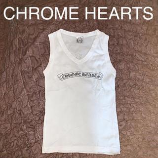 Chrome Hearts - クロムハーツ★胸元ロゴ レディースVネックタンクトップ★ワンサイズ★重ね着に