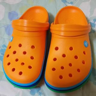 crocs - ✨新品✨可愛い オレンジ クロックス 24cm