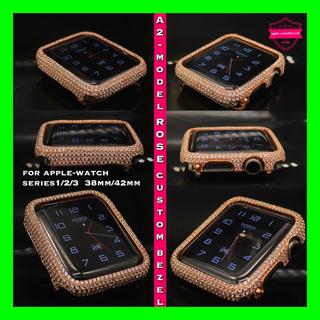 Apple Watch - ローズ●42mm38mm●アップルウォッチカスタムカバー●シリーズ2シリーズ3