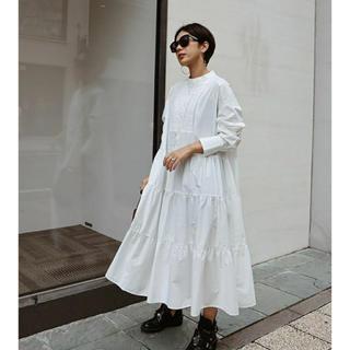 MACHATT タキシードシャツドレス(ブラック)