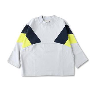ブランシェス(Branshes)のbranshes モックネック配色長袖Tシャツ 新品未使用(Tシャツ/カットソー)