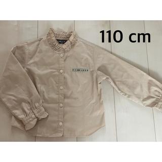コムサイズム 長袖シャツ 110サイズ ブラウス ベージュ 茶系