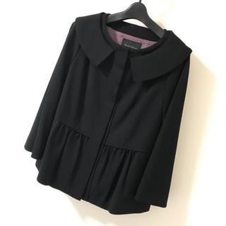 ユナイテッドアローズ(UNITED ARROWS)の【未使用】ユナイテッドアローズ 上品な黒のジャケット日本製 サイズ40(ノーカラージャケット)