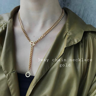 TODAYFUL - 再入荷 3way chain necklace gold