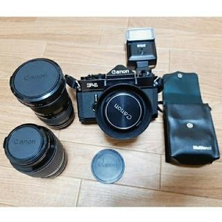 キヤノン(Canon)の最終値下げ Canon F-1カメラ Nationalフラッシュまとめ売り(フィルムカメラ)