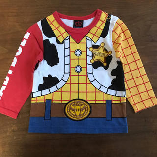 ベビードール(BABYDOLL)のディズニー トイストーリー ウッディ なりきり 長袖 Tシャツ 80cm(Tシャツ)