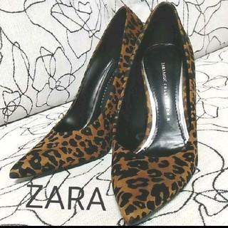 ZARA - ザラ レオパード ヒール 24cm