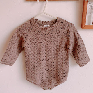 Caramel baby&child  - 韓国子供服⭐︎MONBEBE  lace knit rompers
